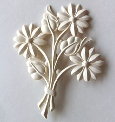 Brooch bouquet cream flowers by Bunnys on Etsy, $15.00