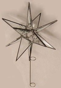 12 Point Moravian Star Tree Topper  Bevel by glassartbyjoe on Etsy
