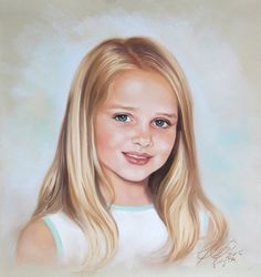 Custom pastel portrait  Painting from photography by BograArt, $220.00