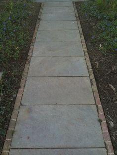 Bluestone with Brick edge in sailor pattern