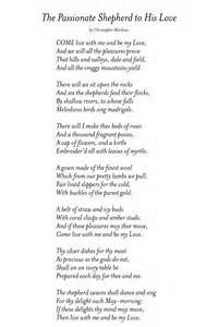 The shepherds love for the nymph in the passionate shepherd to his love by christopher marlowe