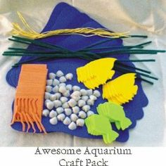 Awesome Aquarium Preschool Craft Pack (10 Craft Kits per Package) by LifeWay Press. $7.49. Enough supplies for up to 10 Kids. Have fun with this craft kit. Makes 10 Awesome Aquariums. This craft kit contains:  10 Foam Sheets  20 Fish  10 Chenille Stems  50 Shells  10 Strings  60 Foam Strips  This kit includes small pieces so it is NOT recommended for Children under 3 years old!. Save 32% Off!