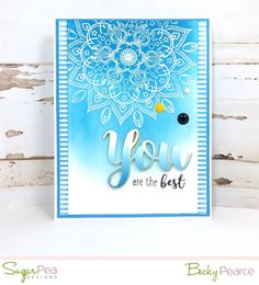 SugarPea Designs SWEET SENTIMENTS YOU stamp set, die