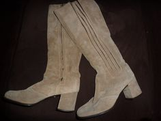 Vintage Suede Imported Boots from Italy by AlmostHomeMemories, $32.00