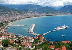 Alanya city center and harbor