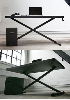 From Danish office furniture company Holmris comes the XTable, designed by KiBiSi. The height-adjustable desk is powered not by a motor, but manually, via elbow grease and a handcrank:XTable is a piece of office machinery that accommodates multiple working positions and daily reshuffling. XTable uses manual kinetic power instead of...