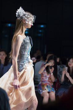 Almost like a #fairytale with #designs by @BLINDbyJW at #HKFW #SS16 #fashionweek #designer