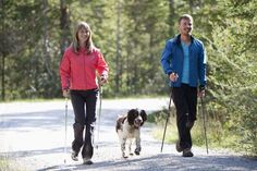 Nordic Walkers with Dog