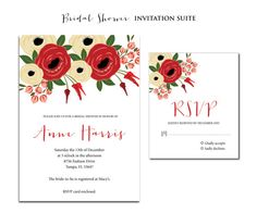 Floral Poppy Bridal Shower Wedding by twinklelittleparty on Etsy