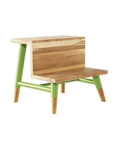 Serena & Lily Teak Step Stool in Leaf