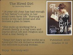 Young Adult Reading Machine: The Hired Girl by Laura Amy Schlitz