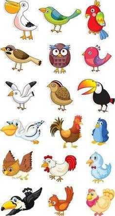 Funny animals vector clip art ideas for 2019 Cartoon Cartoon, Cartoon Birds, Drawing For Kids, Art For Kids, Inkscape Tutorials, Kids Vector, Clip Art, Vector Vector