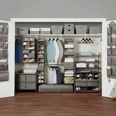 32 Gorgeous Closet Organization Ideas - When it comes to organizing your closet, this is what every person should know. You don't have to buy a new closet or other expensive storage mediums . Diy Bedroom Organization For Teens, Wardrobe Organisation, Home Organization, Closet Shelves, Closet Storage, Hanging Closet Organizer, Bedroom Storage, Organizar Closet, Closet Bedroom