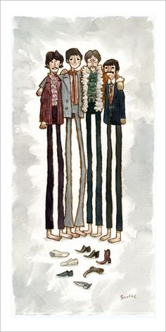 The Beatles by Scott Campbell • Maude and Hermione on Pinterest •