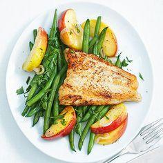 Fischfilets mit grünen Bohnen