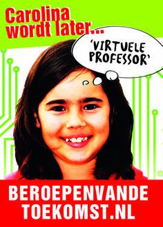 """Brabant voor Techniek stelde aan leerlingen van groep 8 de vraag: Wat wil je later worden? Carolina: """"Een hoogleraar die virtueel les geeft in ons hoofd"""" Daarvoor wil Carolina later zorgen."""