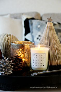 Advent calendar candle.  House number 15