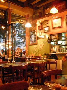 Quaint French cafe in the Marais.