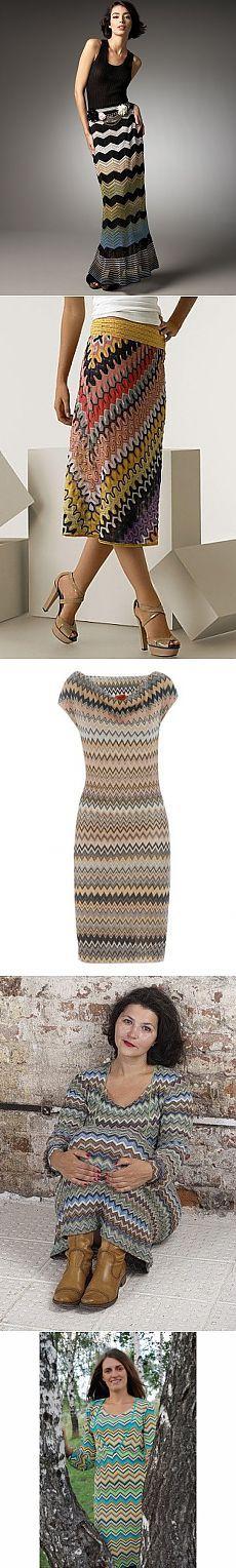 ЗИГЗАГИ МИССОНИ. Crochet Skirts, Knit Skirt, Knit Dress, Knit Crochet, Blouse Dress, Dress Skirt, Short Tejidos, Fashion Forever, Crochet For Boys