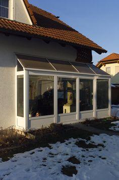 Wintergarten Mit Einem Kleinen Dach