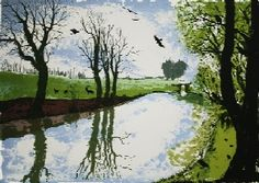 ON THE TOW PATH 46 x 64 cm, Tim Southall