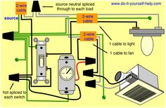 electrical diagram for bathroom bathroom wiring diagram ask me rh pinterest com Bathroom Electrical Wiring Layout Wiring-Diagram Bathroom Fan Light Combo