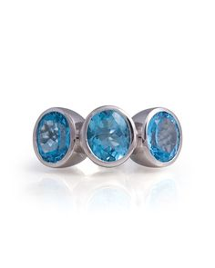 The Surrealist Cocktail Ring in Blue Topaz and Silver
