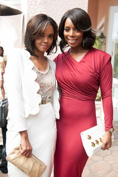 Sharon Leal and Tasha Smith Essence's Black Women In Hollywood Luncheon