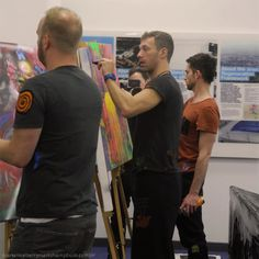 Will, Chris, & Guy - artists at work.. they honestly get cooler every day.