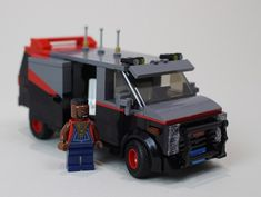 """Lego """"I love it when a van comes together"""" A-Team Van A Team Van, Construction Lego, Gmc Vans, Lego Truck, Lego Speed Champions, Lego Technic, Lego Minifigs, Lego Worlds, Lego News"""