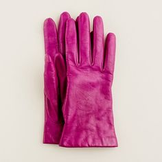 Pink leather gloves!  They're cashmere lined and from J. Crew, so they're probably eleventy-hundred dollars, but I love them anyway.