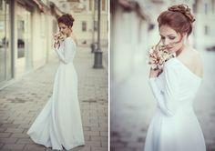 3d9e1001ce6 Asymetrické svatební šaty Svatební šaty z autorské kolekce. Velikost 36-38  (možnost vyzkoušení