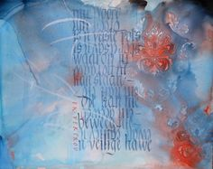 Calligraphy done by Cecile Walters.  For sale Acrylic on wood. See more at www.letterdance.co.za.