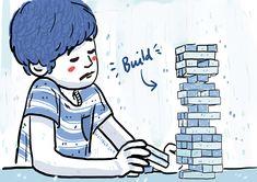 Inktober Day 5 - Build stacks game Stack Game, Inktober, Disney Characters, Fictional Characters, Disney Princess, Nice, Drawings, Building, Illustration