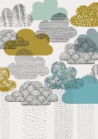 Blue Clouds - Eloise Renouf      Blue Block Flowers - Eloise Renouf      Shape Study Ordered - Eloise Renouf      Nothing But Rain - Elois...