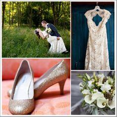 A rustic barn wedding dress on a bride in a field  I LOVE the dress