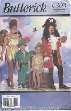 Butterick Sew Pattern 6303 Peter Pan Captain Hook Tinkerbell Szs 4-14 Uncut