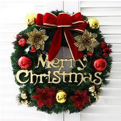 Goedkope kerst decoratie kerst krans gordijnen levert gift rekwisieten gift, koop Kwaliteit Kerstdecoratie Supplies rechtstreeks van Leveranciers van China: diameter: over 35cmVerzending:  Wanneer u een bestelling plaatst, kunt u kiezen voor een het verschepen methode en