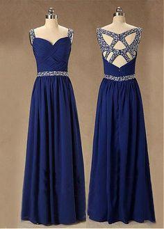 Chic Chiffon Sweetheart Neckline Floor-length A-line Prom Dress