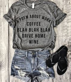 A Poem About Work...Heather Grey Unisex Unbasic Tee Coffee