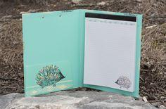Animals - Hedgehog Padfolio With Clipboard Central Michigan