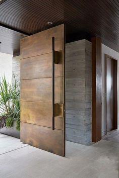 Modern Entrance Door, Main Entrance Door Design, Modern Exterior Doors, Exterior Front Doors, Modern Front Door, Entrance Doors, Modern Wood Doors, Front Door Design Wood, Rustic Exterior