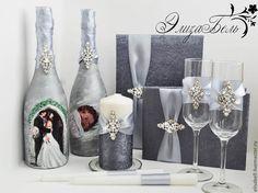 """Купить Свадебный набор """"Очарование"""" - серебряный, свадебные аксессуары, аксессуары, аксессуары для свадьбы, свадьба"""