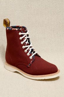 Dr. Martens Cherry Red 8 Eyelet Boots