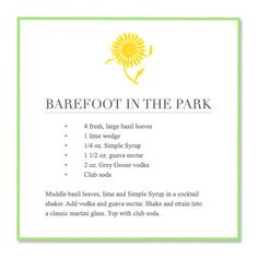 barefoot in the park #cocktail #vodka