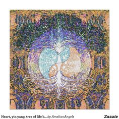 Heart, yin yang, tree of life by Amelia Carrie Poster