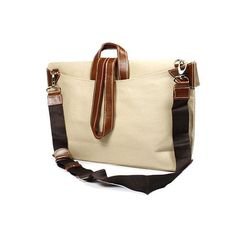 The Criss-Cross Bag by Quote leather n canvas by QuoteBagStudio