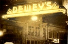 The Dewey's sign in 1947 on 4th street in downtown Winston-Salem. #vintage