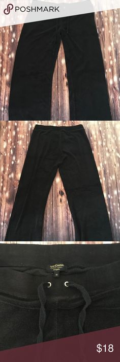 Juicy Couture Black Label track pants Black terry cloth/velour track pants by Juicy Couture Black Label pants Inseam 31 inches  📦same or next day shipping📦 Juicy Couture Pants Track Pants & Joggers