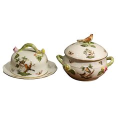 Collection of Fifty Six Rothschild Bird Herend China Items   From a unique collection of antique and modern tableware at https://www.1stdibs.com/furniture/dining-entertaining/tableware/